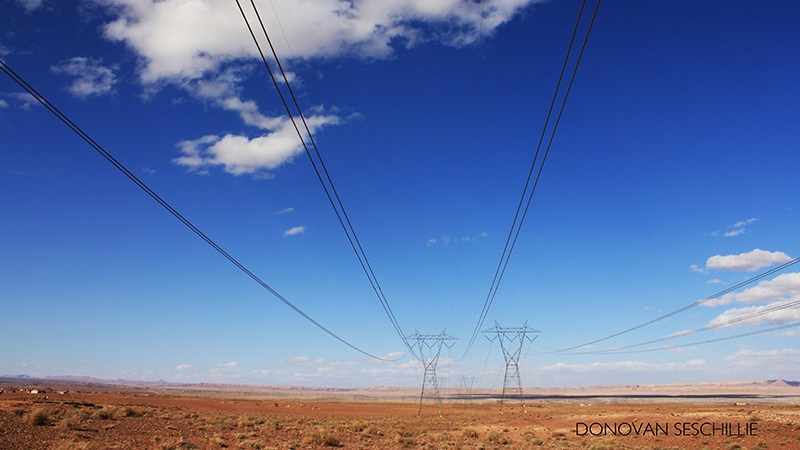 Power lines from Navajo Generation station